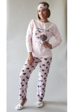 Теплая флисовая пижама Swan Lake (9131)