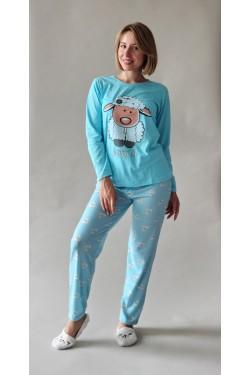 Пижама с длинными рукавами Овечка Blue (8104-2)