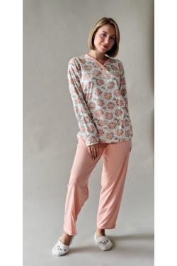 Пижама батальная Цветы (4445)