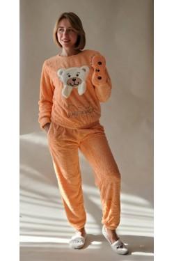 Женская  пижама плюшевая (4140) Рыжий Мишка