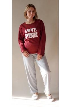 Пижама полубатальной серии  Love Pink (1002)