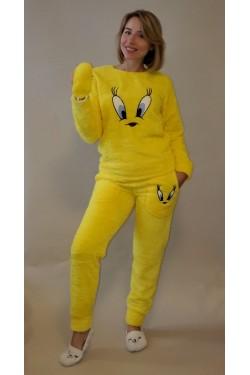 Желтая плюшевая пижама Eye (4355)