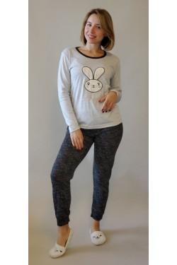 Теплая пижама Зайка (4673)