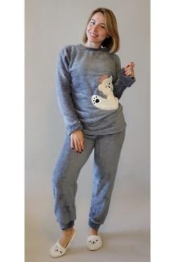 Плюшевая пижама White Bear (7083)