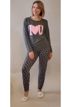 Пижама с длинными рукавами I love U (3383)