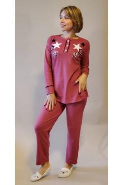 Кашемировая пижама Pink Star (1675)