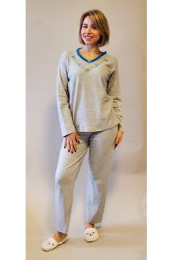 Кашемировая пижама Flowers Blue (2102)