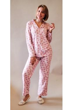 Женская пижама на пуговицах Heart 2013)