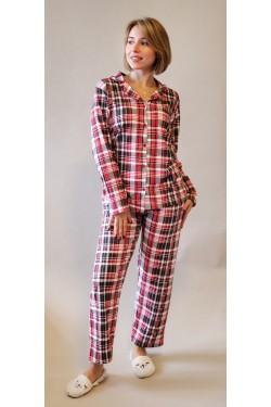 Женская пижама на пуговицах  Сheckered (2016)