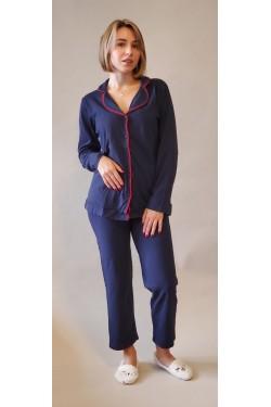 Женская пижама на пуговицах (3039)