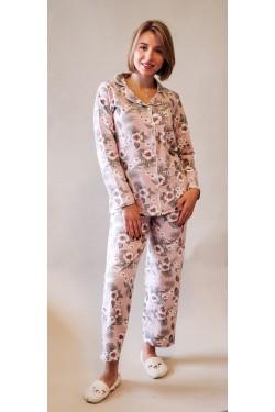 Женская пижама на пуговицах (3041)
