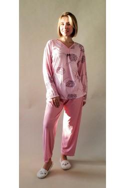Пижама батальная с длинным рукавом Flower (5362)