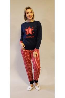 Теплая флисовая пижама You are My Star (5597)