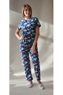 Пижама с футболкой и штанами Flamingo  (7252)