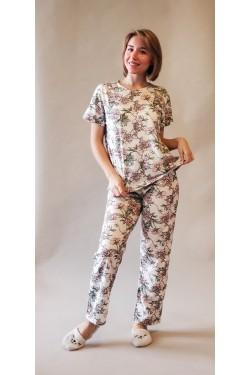 Пижама с футболкой и штанами Flowers (7256)