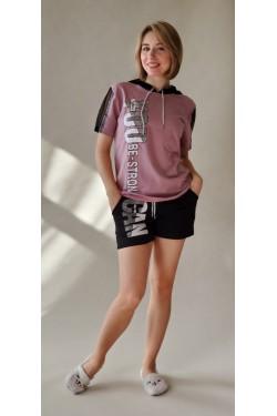 Женская пижама с футболкой Pink Gan (2553)