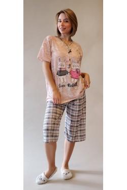 Батальная пижама с капри Love Rabbit (7883)