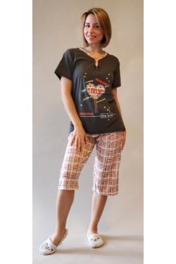 Батальная пижама с капри My Love (4953)