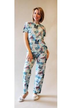 Пижама с футболкой и штанами Paris (7251)
