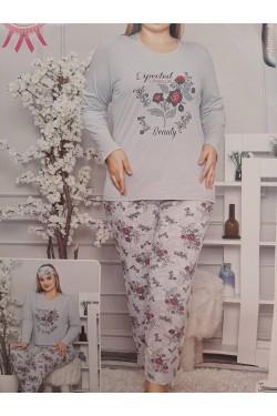 Пижама батальная хлопковая Flowers Life (4651)