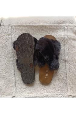 Тапочки домашние Black   Fur