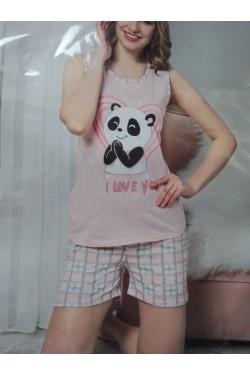Пижама с майкой Blue Panda (7134)