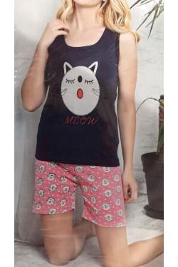 Пижама с майкой Spring Meoow  (3018)