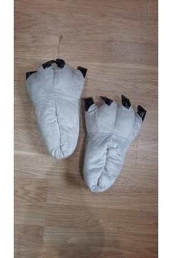 Тапочки-лапки Серые Детские