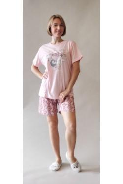 Батальная пижама с шортами Good Morning (8406-1)