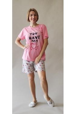 Батальная пижама с шортами My Heart (8420)