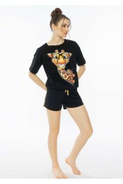 Пижама с шортами Жирафик (3961)
