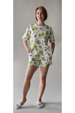 Пижама с футболкой и шортами Avocado (2099)