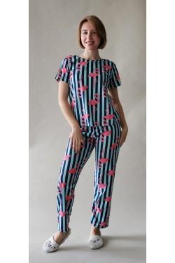 Пижама с футболкой и штанами Flamingo  (7261)