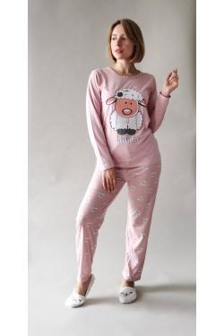 Пижама с длинными рукавами Овечка Pink (8104)