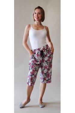 Домашние штаны капри Pink Jungle (428)