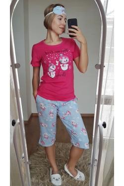Пижама женская с капри (7102)