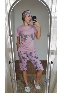 Пижама с капри (7107)