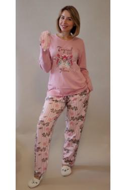 Пижама батальная хлопковая Tropical Flowers (4650-1)