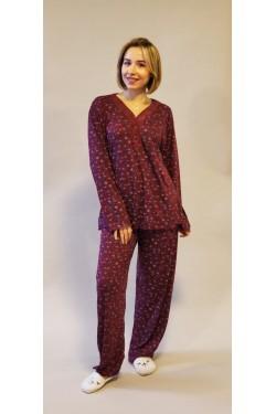 Вискозная батальная пижама Violet Flower (1022)
