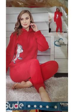 Плюшевая пижама Red Warm (8001)