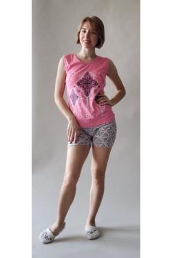 Пижама хлопковая с шортами (7235)