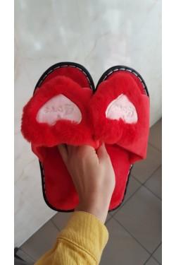 (9311) Тапочки красные Love