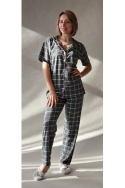 Женская пижама на пуговицах батального размера (2012)