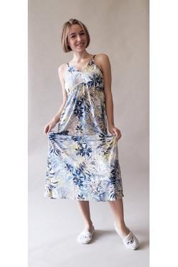 Платье из вискозы батальных размеров