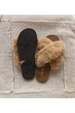 Тапочки домашние Beige   Fur