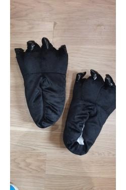 Тапочки-лапки Черные Взрослые