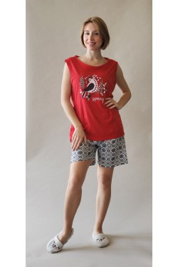 Батальная пижама с шортами Spring (8404)