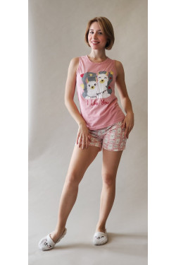Пижама с майкой и шортами I Like You (8203-1)