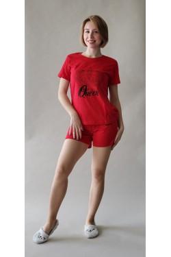 Пижама с футболкой и шортами Queen (7264)