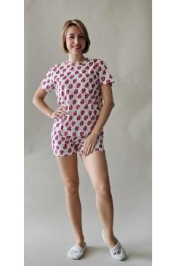 Пижама с футболкой и шортами Kisses (7266)
